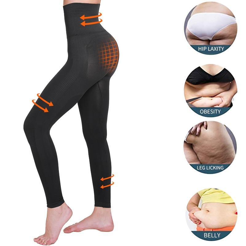 Image 3 - High Waist Leg Shapewear Anti Cellulite Compression Leggings Body Shaper Thigh Slimmer Slimming Tummy Control Fitness PantiesControl Panties   -