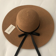 Summer New Wide Big Brim floppy Straw Hats Sun Hat For Women UV Protection Panama Beach Ladies bow hat chapeau femme ete