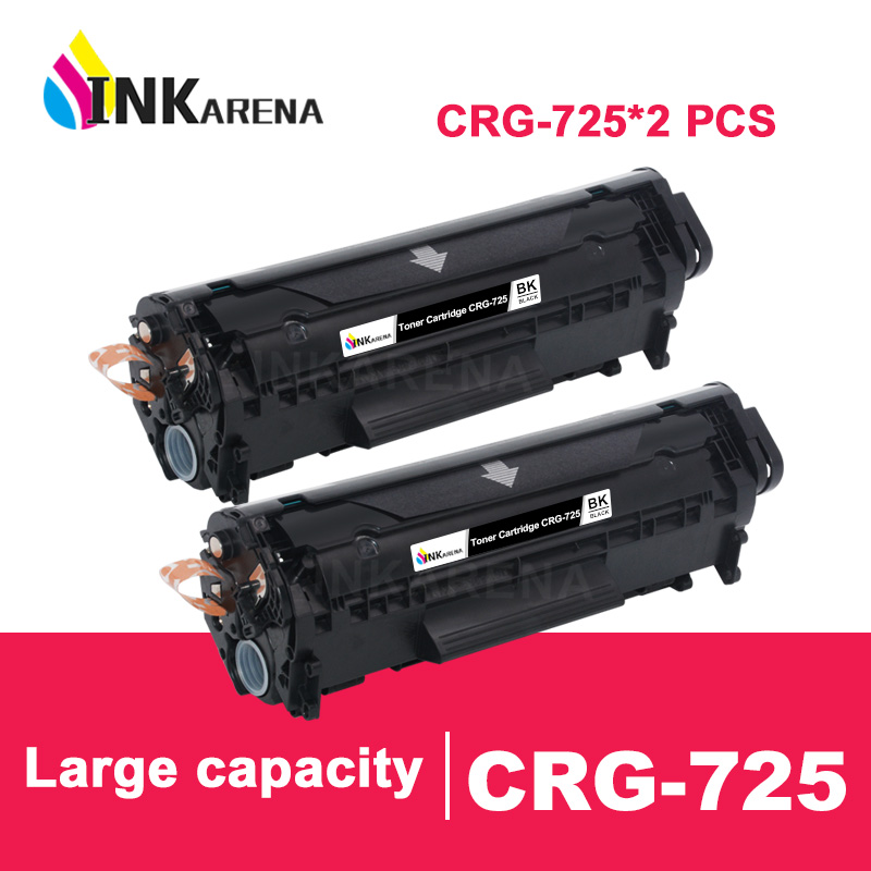 INKARENA 2pcs for <font><b>Canon</b></font> CRG725 CRG 725 Compatible Toner Cartridge image CLASS <font><b>LBP6000</b></font> LBP6018WL LBP6030w MF3010 Printer Black image