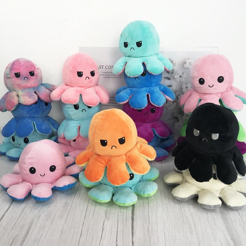 Симпатичные двухсторонние плюшевые игрушки, мягкая хлопчатобумажная плюшевая игрушка, детский подарок, двухсторонняя флип-игрушка, кукла, ...