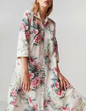 Autumn Chiffon Dress Womens Print Floral  Straight Knee-length Beach Vacation Loose