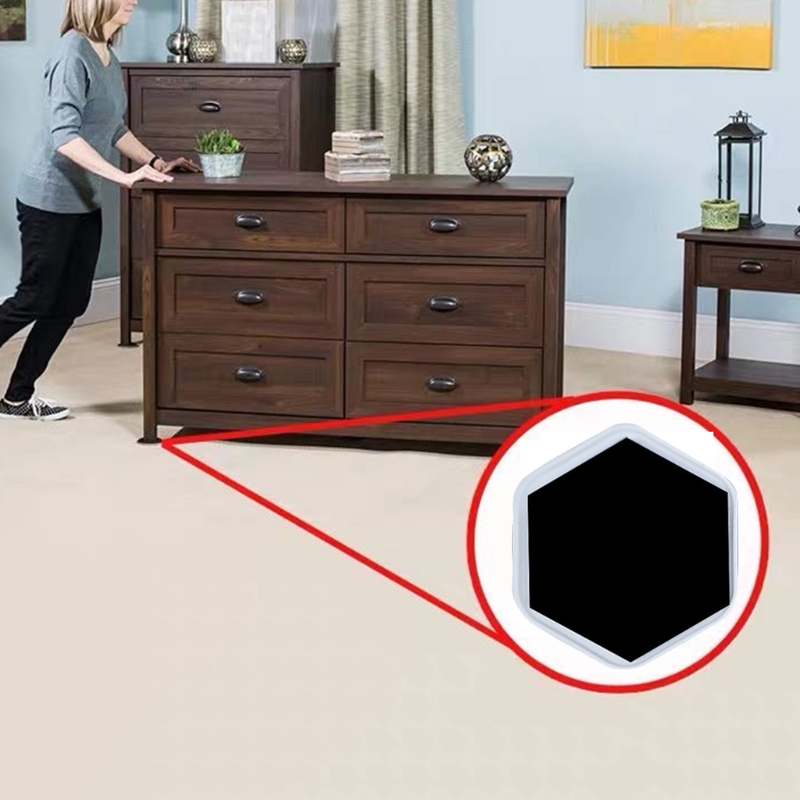 4Pcs Heavy Duty Furniture Sliders Table Moving Pads Floor Protector Easy Move