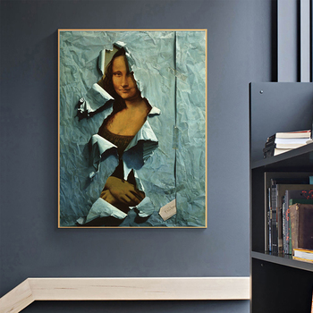 The Famous Mona Lisa Spoof Painting Printed on Canvas 2