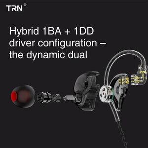 Image 3 - AK TRN ST1 1BA+1DD Hybrid Metal In Ear Earphone IEM HIFI DJ Monitor Running Sport Earphone Earplug Headset Headplug BA5/v90