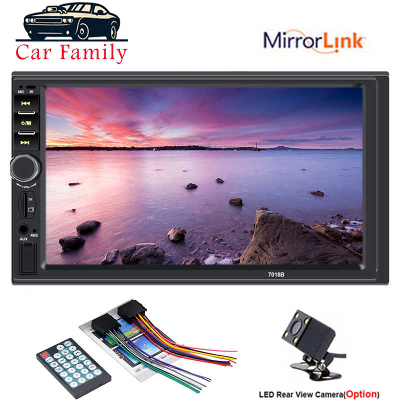 2 Din カーラジオ Autoradio 一般的な車のモデル 7 ''インチ Lcd タッチスクリーンの Bluetooth オートステレオプレーヤーミラーリンクリアビューカメラ
