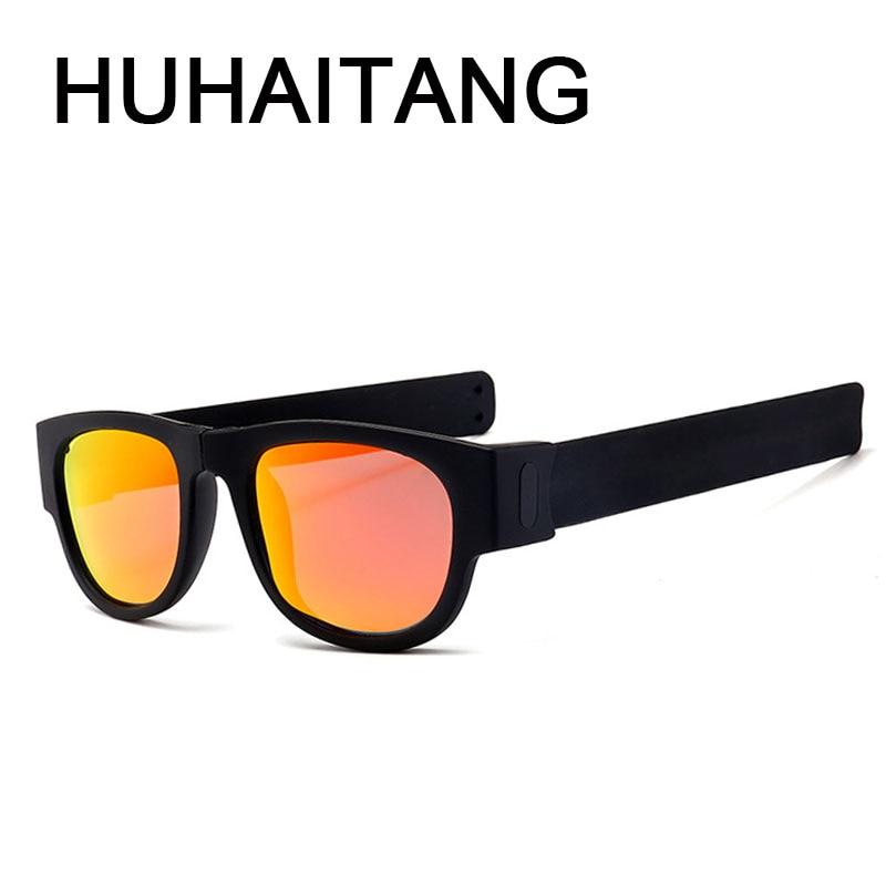 Slap Polarized Sunglasses Women Luxury Wristband Festival Folding Sunglass Lady Slappable Bracelet
