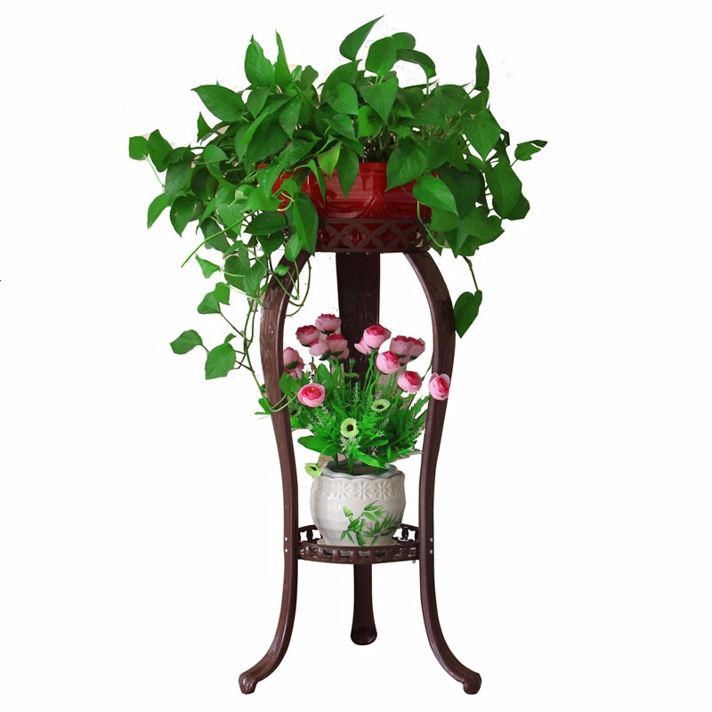 Multi-storey A Living Room Room Domestic  Chlorophytum Flowerpot Frame Thickening Green Luo Flower Rack