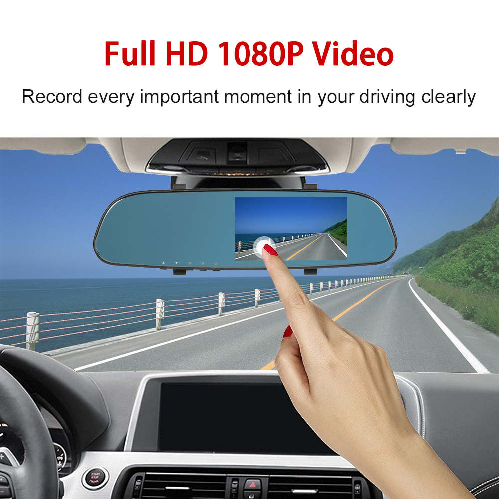 Driving-Recorder Car-Camera G-Sensor Rear Full-Hd L200 Touch-Screen And 1080P Front
