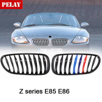 2.0i 2.2i 2.5i 2.5si 3.0i 3.0si high quality e86 black grill for BMW 2003 - 2019 Z series Z4 E85 front bumper car styling grille image