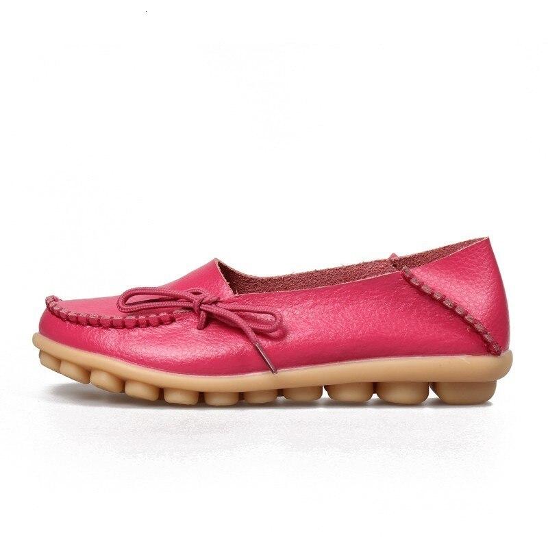 VIGOR/Женская обувь на плоской подошве; сезон весна; Женская Осенняя обувь из натуральной кожи; оксфорды; мокасины из натуральной кожи на плоской подошве; S80 - Цвет: Розово-красный
