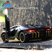 LP770 1:32 Lamborghinis Alloy Sports Car Model Diecasts & Toy Vehicles Sound Light Super Racing Pull Back Car Kids Birthday Gift