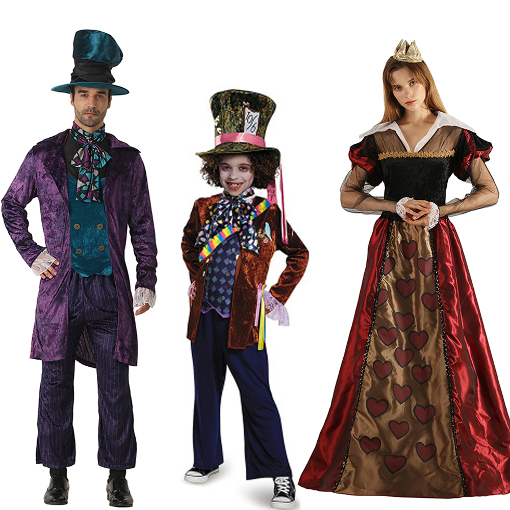 Snailify Алиса в стране чудес», костюм для мальчиков костюм безумного Шляпника Семья Хэллоуин косплей Элис молодой девушки Стекло Косплэй