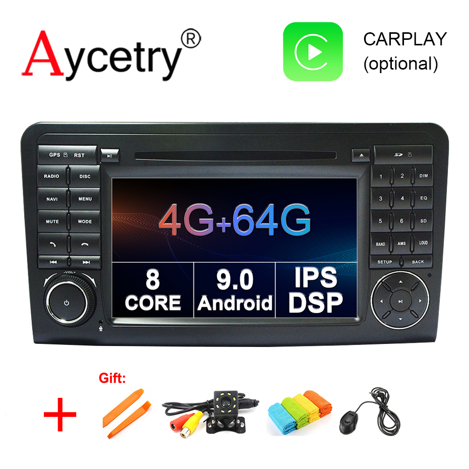 4G 64G 2 din Android 9 0 Car multimedia DVD GPS navigation For Mercedes Benz ML