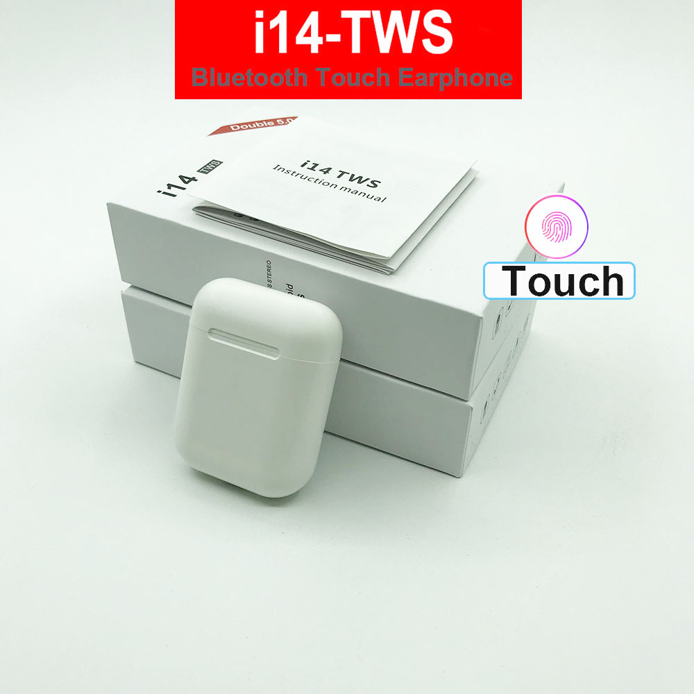 i14 <font><b>tws</b></font> Touch Control Wireless Headphones Bluetooth 5.0 Earphones Mini Headset PK i10 i12 I7 i20 i18 For iPhone Android With Mic image