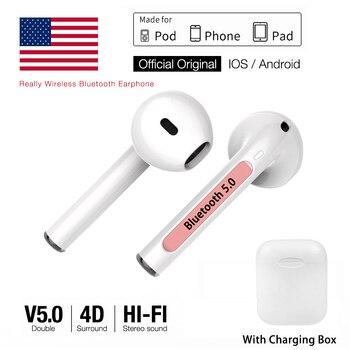 AirPods i9s TWS auriculares inalámbricos Bluetooth 5,0 auriculares de aire auriculares deportivos manos libres con caja de carga para iPhone IOS Android