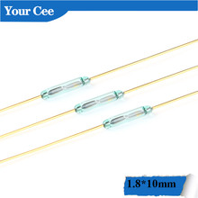 Reed-Switch Glass Normally Sensors Magnetic-Control-Switch 10pcs for Open-Contact Green