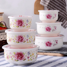 Tureens Fresh-keeping Bowl Sealing Cover With Hole Dinnerware Food Storage Tableware 3PCS set