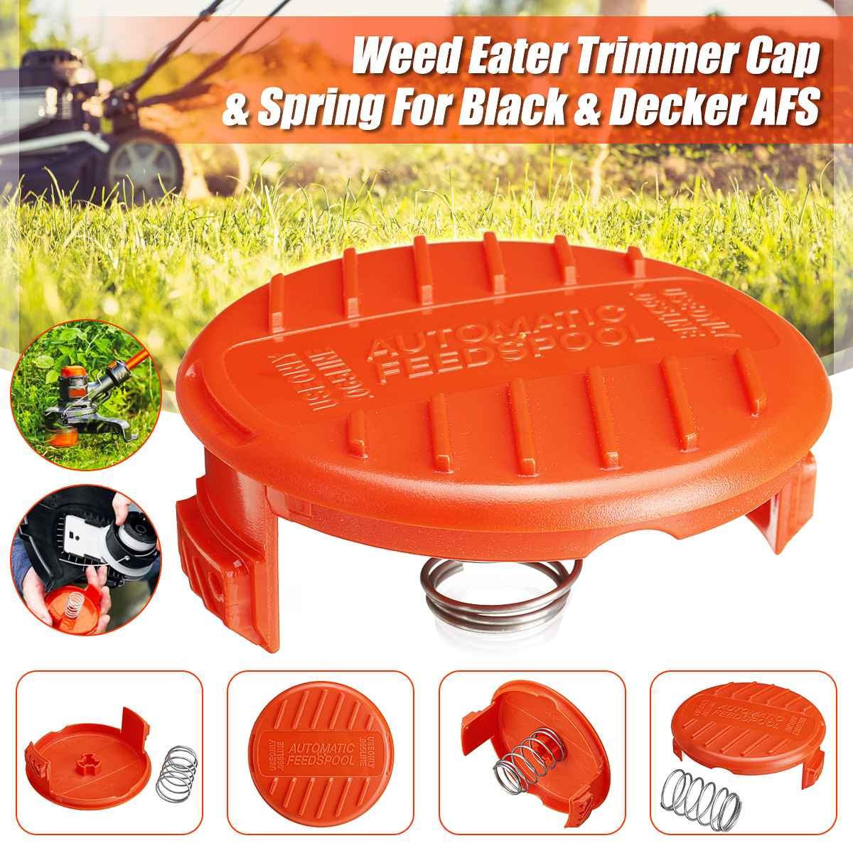 Trimmer Replacement Spool Cap Springs 385022-03 Gardening Accessories For Black Decker