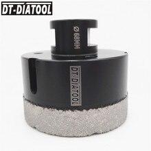 цена на DT-DIATOOL 1pc M14 Dia 68mm Dry Vacuum Brazed Diamond Drilling Core Bit Ceramic Tile Hole Saw Granite Marble Stone Drill Bit