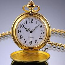60%HOT Pocket Watch Unisex Retro Alloy Smooth Vintage Pocket Watch for Daily Life