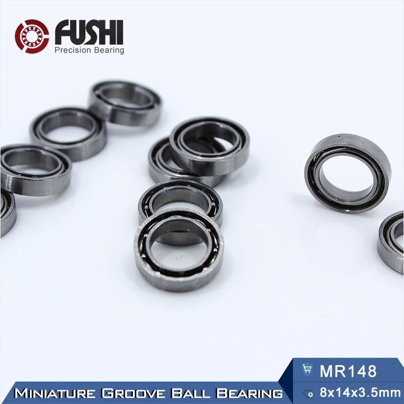 MR148 Bearing 8*14*<font><b>3.5</b></font> <font><b>mm</b></font> ABEC-1 ( 10 PCS ) Miniature MR148 Open <font><b>Ball</b></font> Bearings L-1480 image