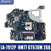 For Acer aspire V3 571 V3 571G E1 571G Laptop Motherboard HM77 DDR3 NBRZP11001 Q5WVH LA 7912P GT630M 2GB
