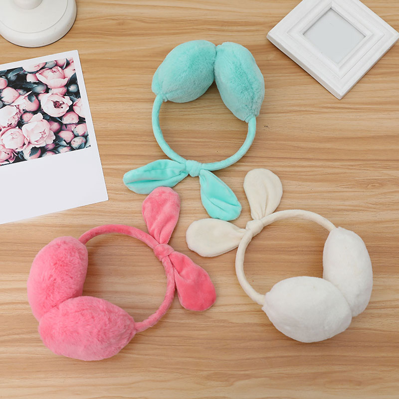 New 2019 Fashion Women Girls Fur Winter Ear Warmer Earmuffs Rabbit Ear Muffs Earlap Soft Plush Earmuffs Female Ear Warmer