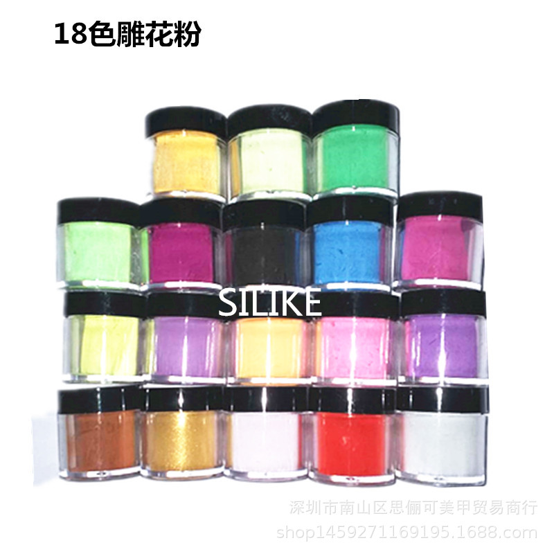 Manicure Wholesale Crystal Nail Sculpture Colored Acrylic Powder Multi-color Crystal Powder 12 Colors 10g Pot Clear Pink Dust