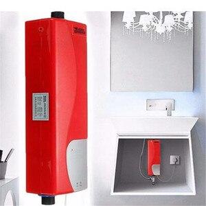 Image 5 - Mini calentador de agua eléctrico instantáneo, sistema de calentador de agua instantáneo para cocina, baño, ducha, 220V, 3000W, enchufe europeo