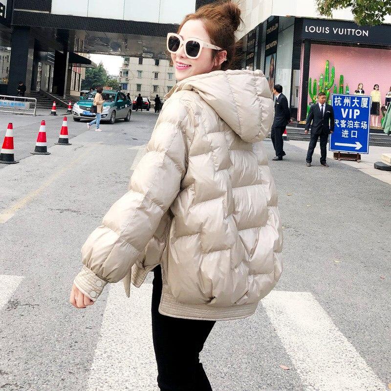 2020 New Winter Women Short Down Jacket Warm White Duck Down Hooded Parkas Female Warm Parkas Snow Outerwear