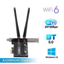 Беспроводная настольная PCI E Wi Fi карта 2400 Мбит/с, двухдиапазонный адаптер Wi Fi 6 для AX200NGW NGFF 802,11 ac/ax с BT5.0 для ПК