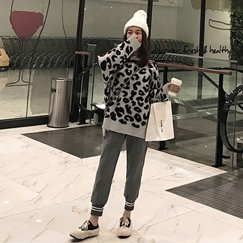 Early Autumn Online Celebrity Graceful WOMEN'S Suit 2019 New Style Fashion Elegant Sweater Pants Two-Piece Set By Age Trousers