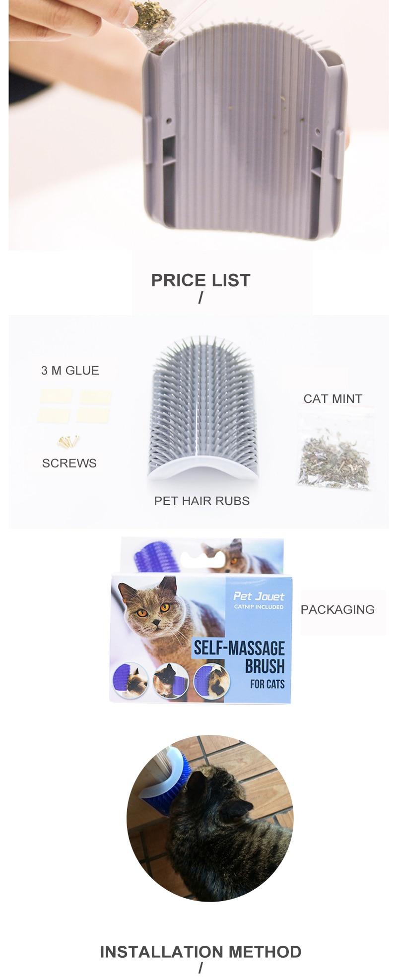 Escova para Gatos | Escova de Massagem para Gatos | Escova de Canto