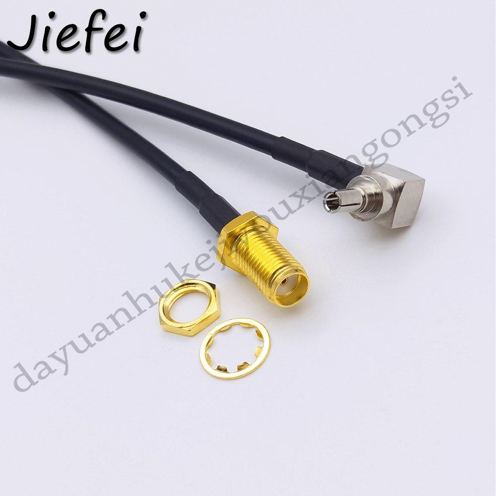 20 50pcs 15cm 20cm 30cm 50cm SMA Female to CRC9 Right Angle Connector RG174 Pigtail Cable|Connectors| |  - title=