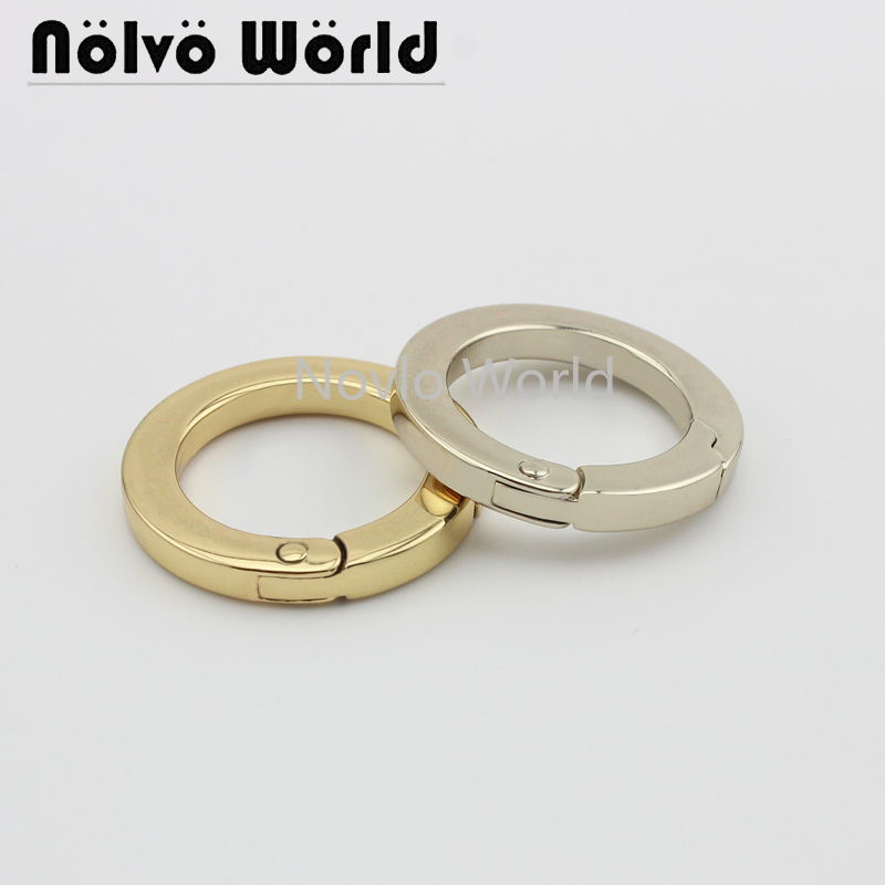 Wholesale 500pcs, 3 Colors Accept Mix Color,inner Width 25mm 1 Inch,metal Spring Ring Flat Line Buckle Bags Hardware Accessories