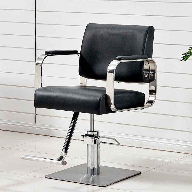 New Arrivel Stainless Steel Hairdressing Chair  Armrest Barber Chair Special Barber Shop Hairdressing Salon Shearing Chair