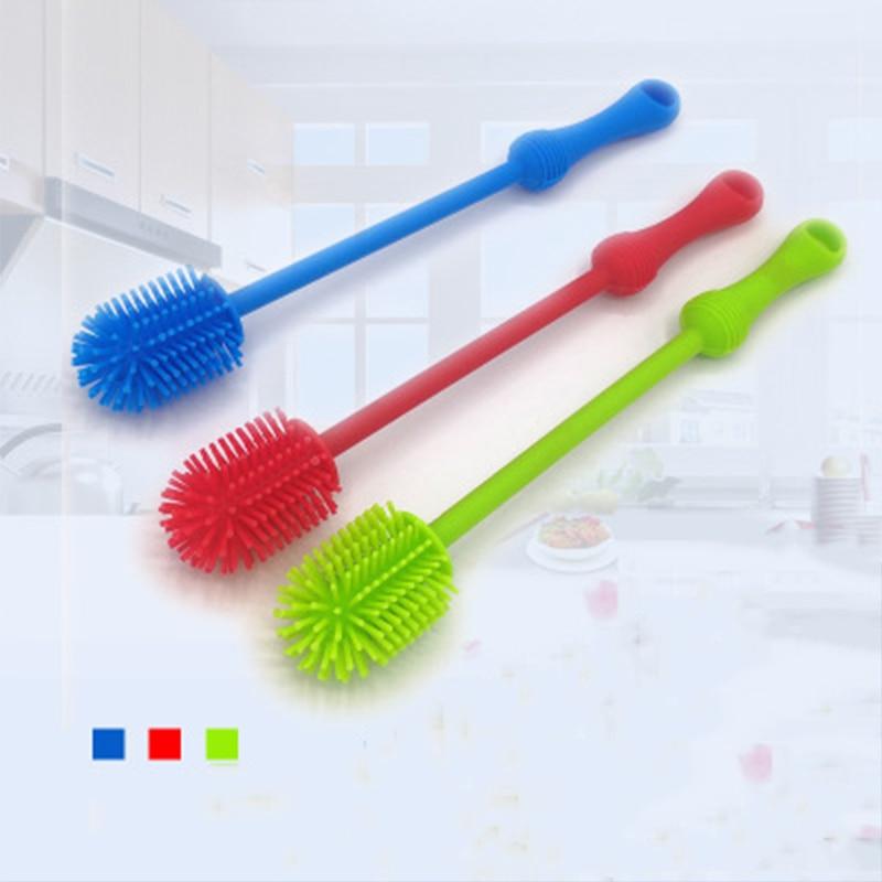 Baby Bottles Creative Washing Feeding Bottle Brush Newborns Scrubbing Silicone Cleaning Long Handle Multifunction Cleaner Tool