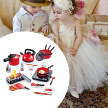 36pcs Education Cutting Faked Girls Boy Kitchen Toys Pretend Play Set Cookware Kids Plastic Accessories Food Toddlers Cooker
