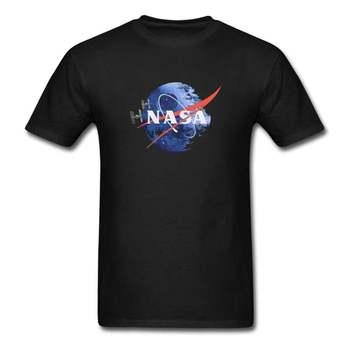 NASA gwiazda śmierci gwiezdne wojny Humor koszulka męska Unisex bawełna * wiele opcji * tanie i dobre opinie Na zakupy CN (pochodzenie) Cztery pory roku Z okrągłym kołnierzykiem tops Z KRÓTKIM RĘKAWEM SHORT COTTON Na co dzień