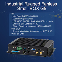 Cheapest Industrial Mini PC Intel Core i5 4200U i7 4500U Desktop Computer 6 COM GPIO LPT HDMI VGA 2 LAN 4G Module Rugged Box