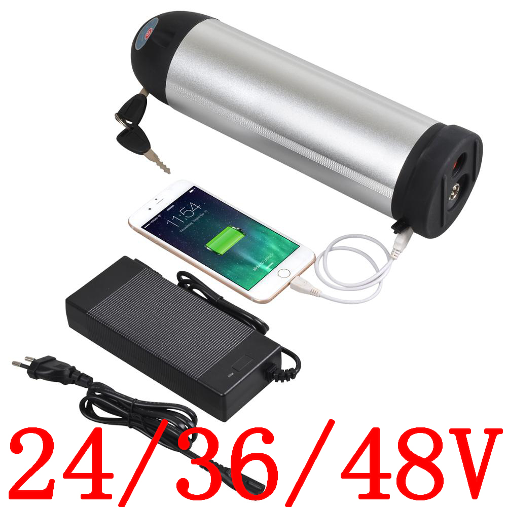 48V 12A Lithium Battery fits Electric Bicycle Scooter 500W motor+US plug Stock