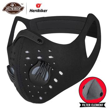 HEROBIKER maska maska motocyklowa pyłoszczelna osłona twarzy kominiarka motocyklowa PM2 5 Biker Moto kominiarka ochrona tanie i dobre opinie Wiatroszczelna Oddychające Anty-uv Plus size O zmniejszonej palności Wodoodporna Motorcycle Motorbike Cruiser Touring Chopper Scooter Street Moto