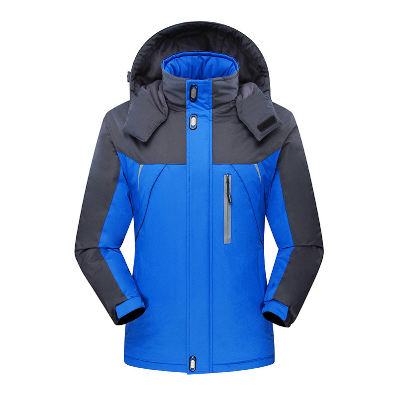 Raincoat Jacket Customed Working Suit Autumn And Winter Men And Women Three-in-One-Piece Coat Workwear Brushed And Thick Printed