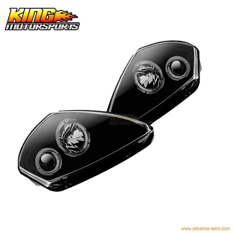 Winjet 2000-2005 Mitsubishi Eclipse Projector Halo Headlights Black//Clear