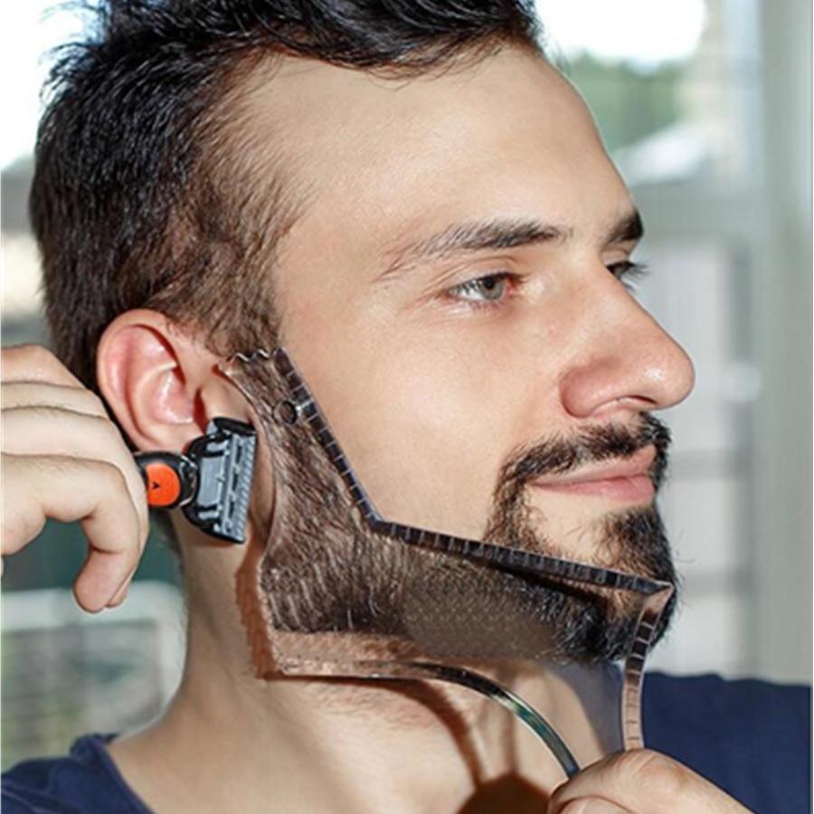 Beard barba moustache Shaping Template Shower Salon Beard Shaving shave Shape style styling comb care brush Tool(China)