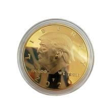 América presidente donald trump moedas comemorativas presente medalhões eua estilo coleção de moedas eua 58th presidente emblema decoração da sua casa