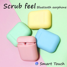 i12 tws matte Bluetooth Earphone Wireless Earbuds Handsfree Fingerprint touch sp