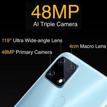 realme 7i Newest Smartphones 6.5 Inch HD Helio G85 Octa Core 4GB 64GB 6000mAh 48MP AI Quad Camera Android 10 LTE Cell phones 4