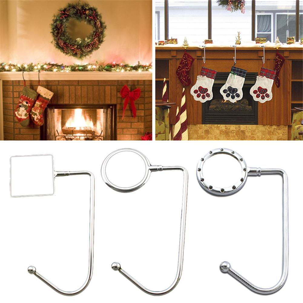 Metal Hooks For Hanging Christmas Stocking Hook Hanging Clip Holders For Christmas Party Decoration Desk Table Bag Key Hook