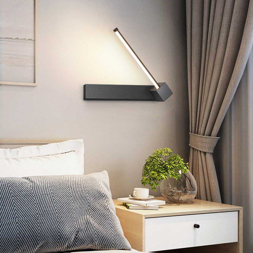 Modern Led Wall Lights Black And White Long Section Design Living Room Decor Wall Lamp Loft Aisle Bedroom Bedside Light Fixture Big Promo 2d7a7 Nwhome